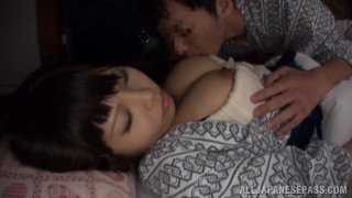 Japanese AV Models with big tits in nasty threesome
