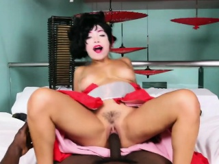Petite Asian Vivianna Mulino getting destroyed by a BBC