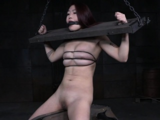 Redhead asian submissive punished and whipped
